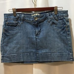 L.E.I. Blue Jean Denim Mini Skirt Size 13